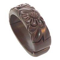 Chocolate Brown Bakelite Clamper Bracelet