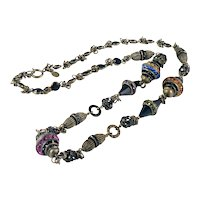 Exceptional Sorrelli Austrian Crystal and Brass Necklace 1980s