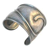 Modernist Sterling Silver Cuff Bracelet
