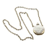 Sterling Silver Perfume Flask Pendant on Chain