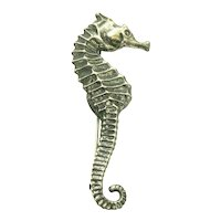 Seahorse Pin Sterling Silver Felch & Co.