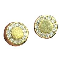 18K Gold Diamond Earring Studs