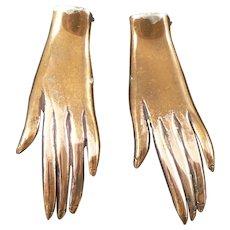 Copper Hand Dress Clips