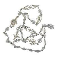 Italian Peruzzi Style Charm Chain 800 Silver