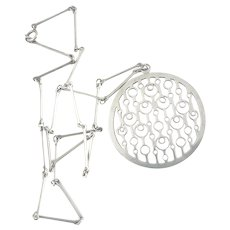 David Andersen Marianne Berg Sterling Silver Pendant Necklace Norway