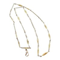 14K Gold Antique Watch Chain Necklace 24""