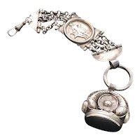 Sterling Silver Watch Fob Chain