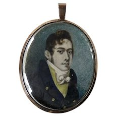 Antique Miniature Portrait Rose Gold Locket Frame Edwin Harris