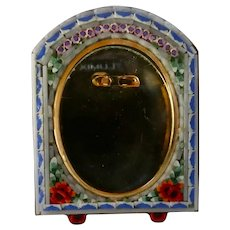 Vintage Italian Miniature Micro Mosaic Picture Frame