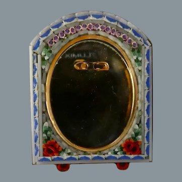 Vintage Italian Miniature Micro Mosaic Picture Frame