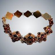 Antique 14K Gold Garnet Bracelet Netherlands