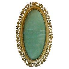 Antique Art Nouveau Oval Picture Frame