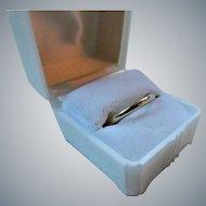 Vintage 14K Gold Hollow Stacking Wedding Band Ring
