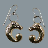 Vintage 14K Gold Horse Head Earrings or Charms