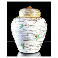 Durand Threaded Covered Jar