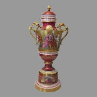 Royal Vienna Urn with Lid 25 Inches Tall...