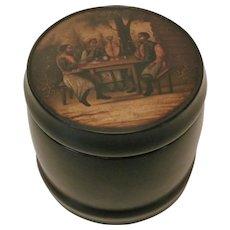 Russian Papier Mache Tea Caddy..Circa,1870..