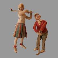 Golfer dolls by Klempe  Roldan