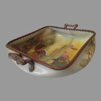 Early 20th Century Nippon Porcelain Walnut Dish...
