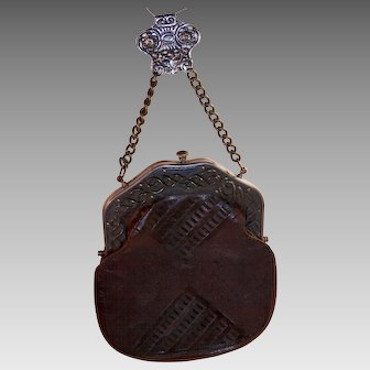 19Th Century  Chatelaine Purse...