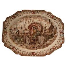 Transferware Turkey Platter