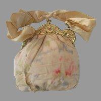Vintage Floral Watered Silk Purse....