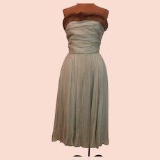 Silk Chiffon Evening Gown...