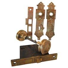 Victorian Brass Door Knob Set..