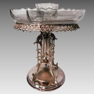 Aesthetic Movement Silver Plate Compote...