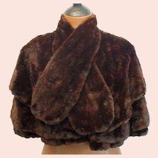 19th Century Beaver Fur Capelet..