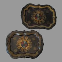 19th Century Pair of Tole Trays..