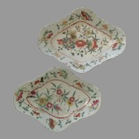 Chinese Export Porcelain Footed Dishes...Early 19th Century..