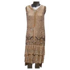 Silk/Beaded, Flapper Dress...