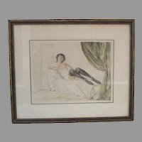 Dry Point Etching Signed Otto Goetze..