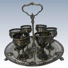 Late 19th Century Silverplate Liqueur Set.....