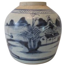 19th Century Chinese Export Ginger Jar...