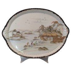 Oriental Hand-Painted Platter Tray..