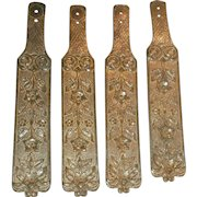 Vintage Brass Repousee Curtain Tie Backs...