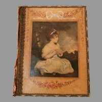 Early 20th Century Hand Painted Folio cover...
