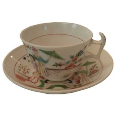 Early 19th Century English cup and saucer