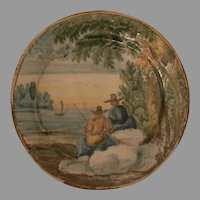 Faience Plate..Late 18th Century..