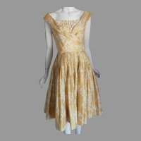 1960'S Custom Made Silk dress...