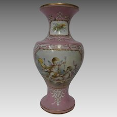 Late 19th Century Hand Painted Porcelain French Vase...