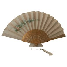 Hand Painted Satin fan