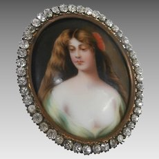 19th Century Painting on Porcelain....