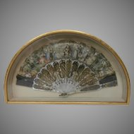 19 Century Hand Painted Fan....