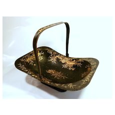 Late 19Th Century Tole Basket....