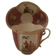 Antique Dresden Cup and Saucer...