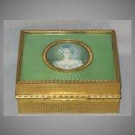 Guilloche and Brass Cigarette Box.....