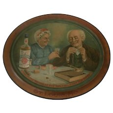19th Century Advertising Self Framed Tin Sign: Progress Rye...